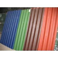 Шифер восьмиволновой цветной