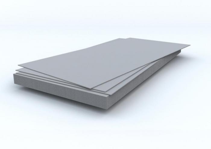 Шифер плоский серый 8,0мм