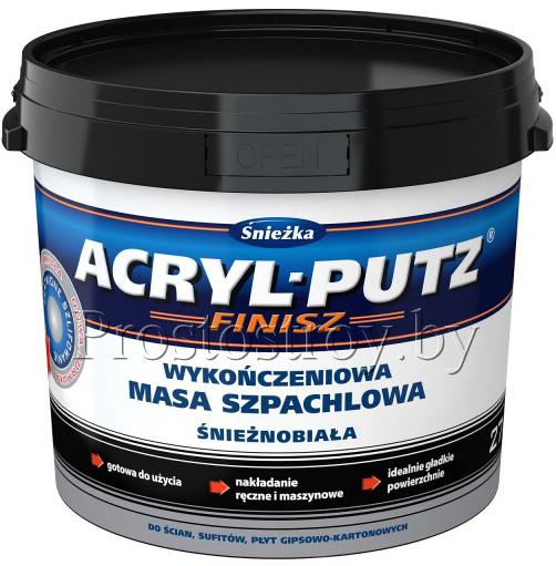 Шпатлевка ACRYL-PUTZ Sniezka (финиш) готовая (15кг) РБ